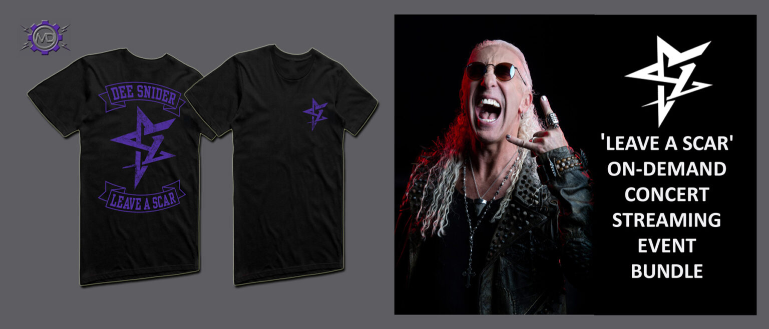 DEE SNIDER 'Leave A Scar' On-Demand Concert Streaming Event + 'Leave A Scar' T-shirt
