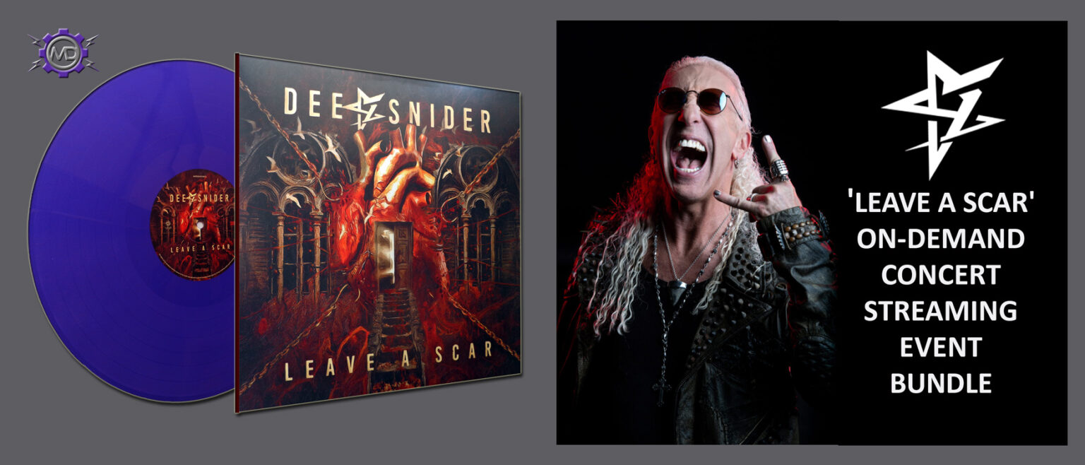 DEE SNIDER 'Leave A Scar' On-Demand Concert Streaming Event from New York + 'Leave A Scar' purple vinyl LP