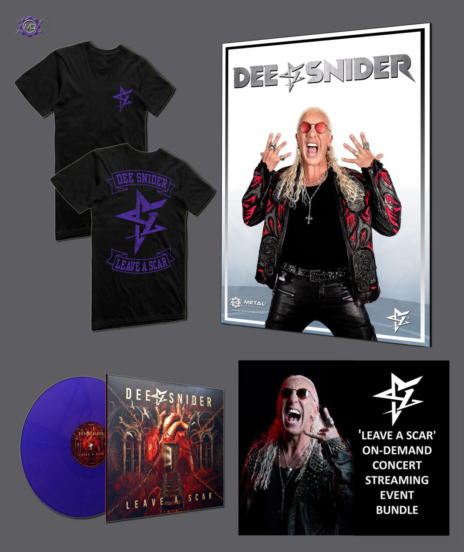 DEE SNIDER 'Leave A Scar' ultimate fan bundle: Streaming Event + purple vinyl LP + T-shirt + Poster
