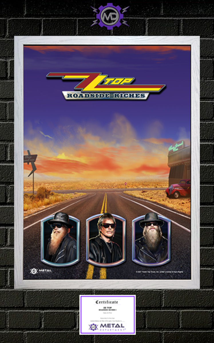 ZZ TOP 'Roadside Riches I' limited edition art print poster