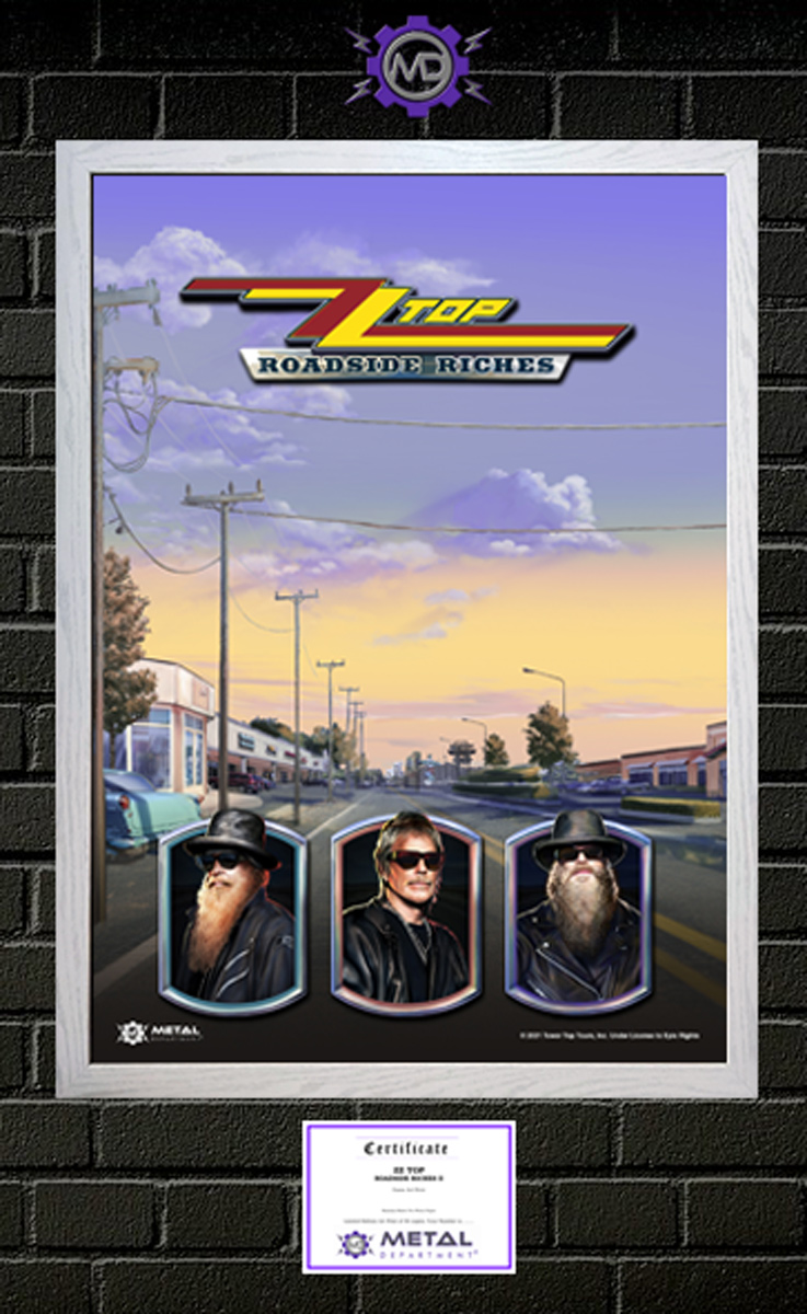 ZZ TOP 'Roadside Riches II' limited edition art print poster