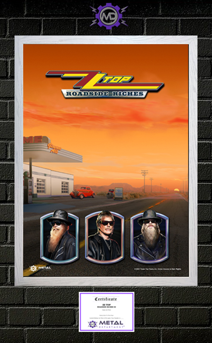 ZZ TOP 'Roadside Riches III' limited edition art print poster