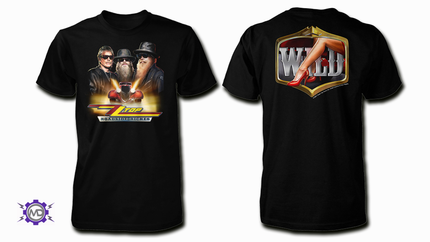 ZZ TOP 'Roadside Riches' black T-shirt