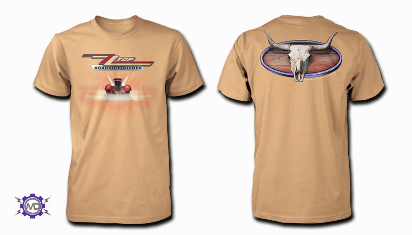 ZZ TOP 'Roadside Riches' tan T-shirt