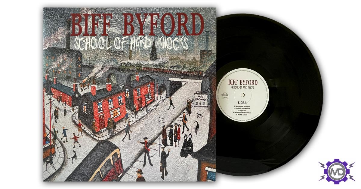 BIFF BYFORD (SAXON) 'School Of Hard Knocks' vinyl LP, autographed