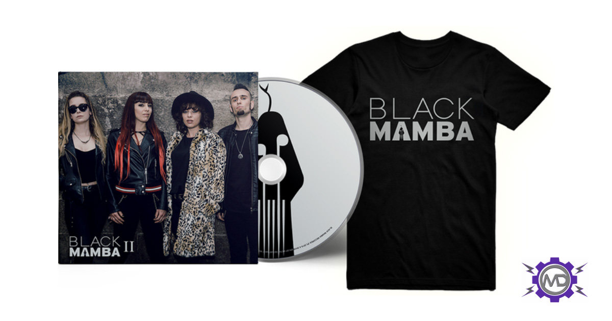 BLACK MAMBA 'II' bundle incl. silver logo T-shirt + digipack CD