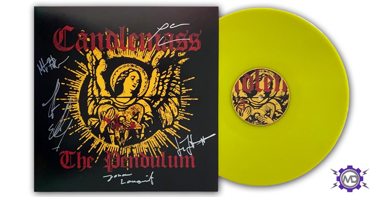 "CANDLEMASS 'The Pendulum' yellow vinyl 12"" EP, autographed"