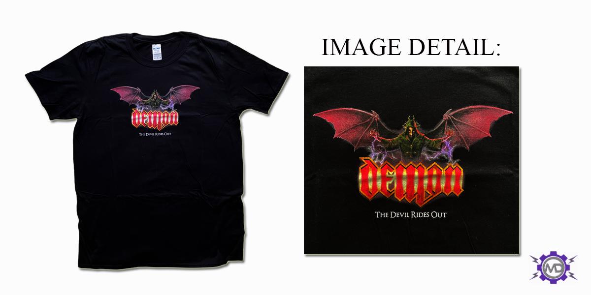 DEMON 'The Devil Rides Out' black T-shirt