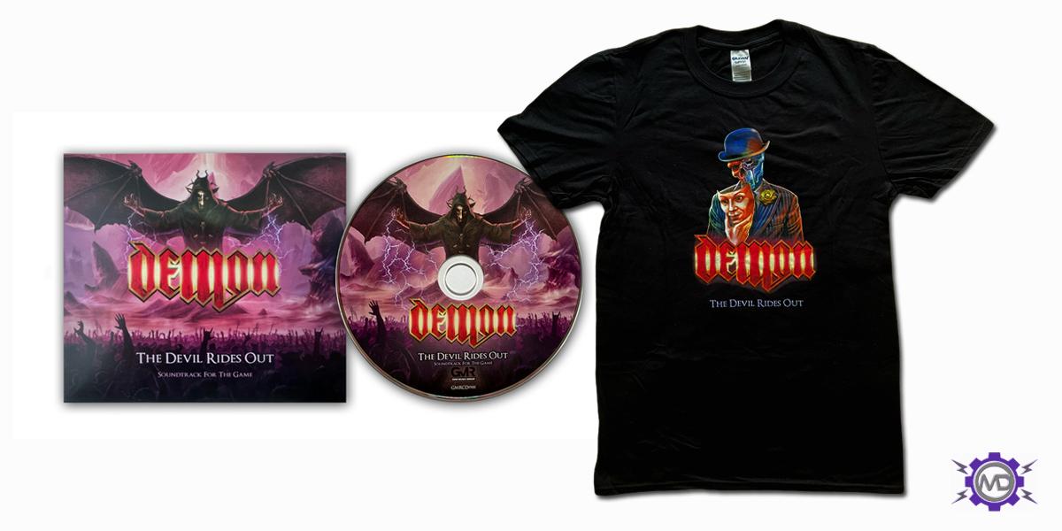 DEMON 'Masquerade' bundle incl. black T-shirt + digipack CD
