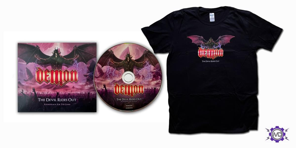 DEMON 'The Devil Rides Out' bundle incl. black T-shirt + digipack CD