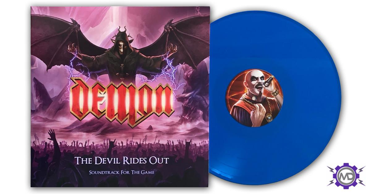 DEMON 'The Devil Rides Out: Soundtrack For The Game' LP, blue vinyl