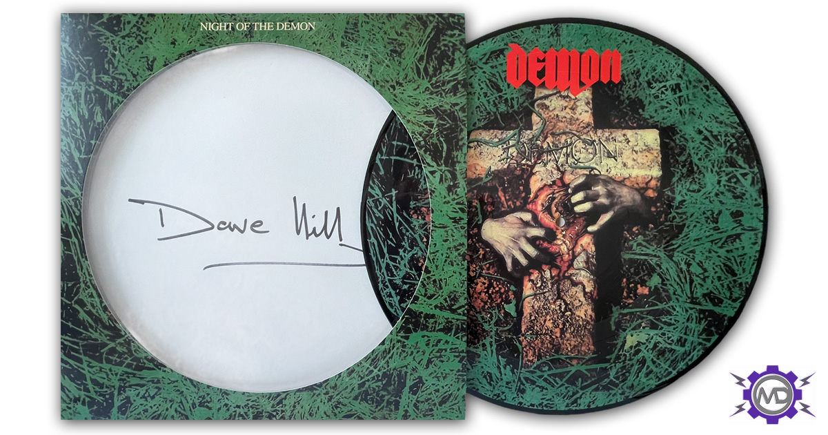 DEMON 'Night Of The Demon' picture-disc LP, autographed