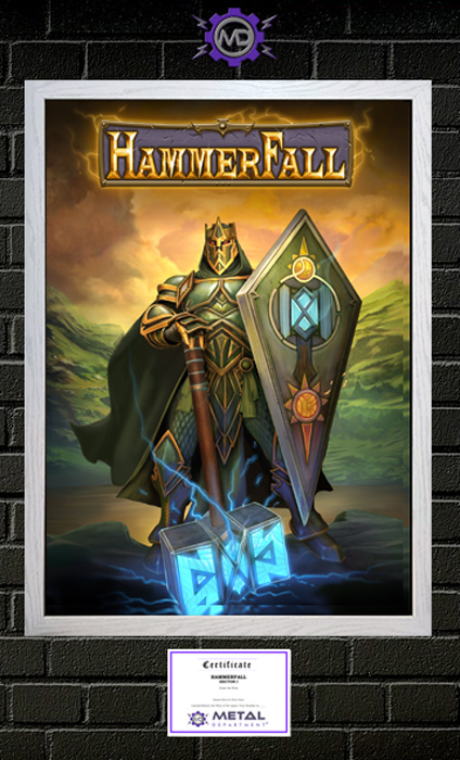 HAMMERFALL 'Hector I' limited edition art print poster