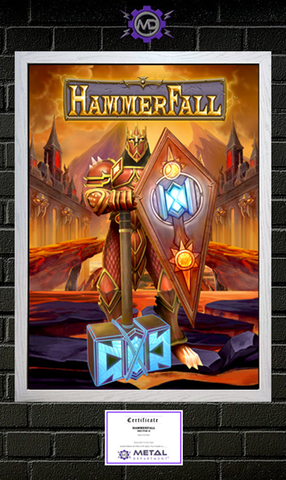 HAMMERFALL 'Hector II' limited edition art print poster