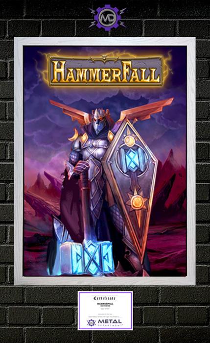 HAMMERFALL 'Hector III' limited edition art print poster