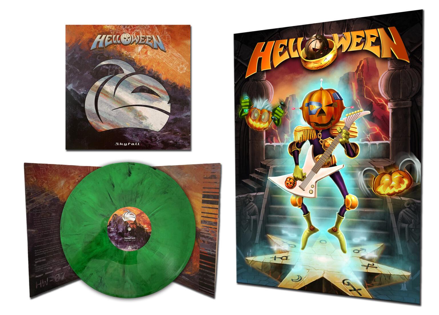 HELLOWEEN 'Skyfall' 2021 EP on green marbled vinyl + exclusive bonus poster