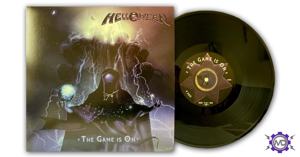 "HELLOWEEN 'The Game Is On' 10"" black vinyl single"