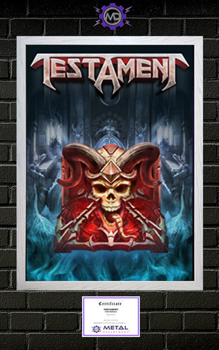 TESTAMENT 'Cold Embrace' limited edition art print poster