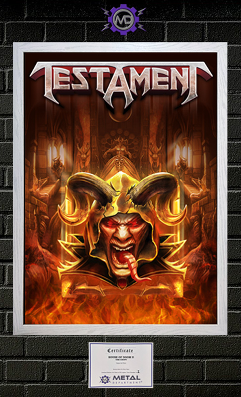 TESTAMENT 'Thrones Of Thorns' limited edition art print poster