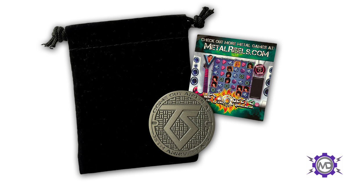 TWISTED SISTER '35th Anniversary' collectible metal coin